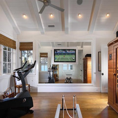 traditional home gym by Patterson Construction Corporation