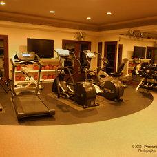 Mediterranean Home Gym by Preston Custom Homes