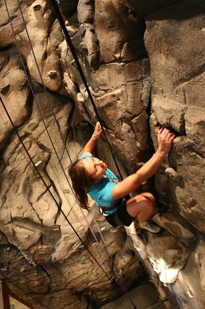 Rustic Home Gym by Eldorado Climbing Walls