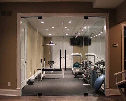 Small home gym design ideas remodel pictures houzz