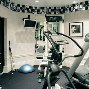75 most popular small traditional home gym design ideas for 2019
