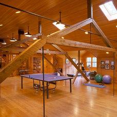 Farmhouse Home Gym by Bensonwood