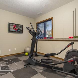 basement gym  houzz