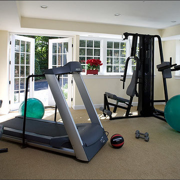 Basement Exercise Room with Above Ground Windows