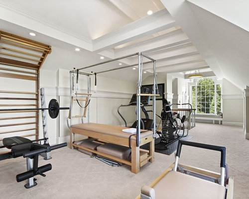 Large home weight room design ideas pictures remodel decor