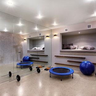 Moderner Fitnessraum in Melbourne