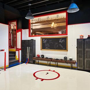 Immagine di una palestra in casa industriale