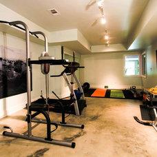 Contemporary Home Gym by Daniel M Martin, Architect LLC