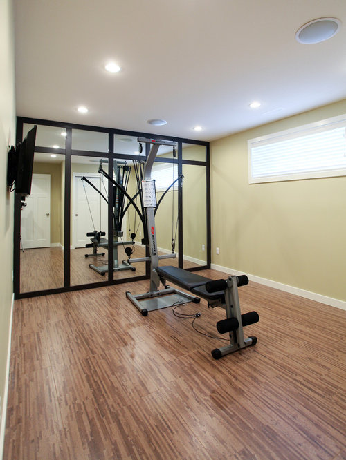 Home Gym Design Ideas, Renovations & Photos With Bamboo