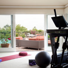 Traditional Home Gym by UnCommon INteriors