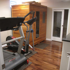 Contemporary Home Gym by Buckeye Basements, Inc.