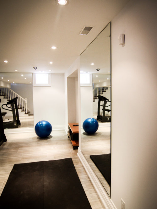 Small home gym design ideas renovations photos with