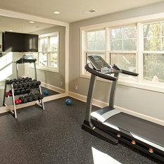 Home Gym Type Weight Room Rustic Glam