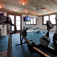 Beach Style Home Gym by foley&cox