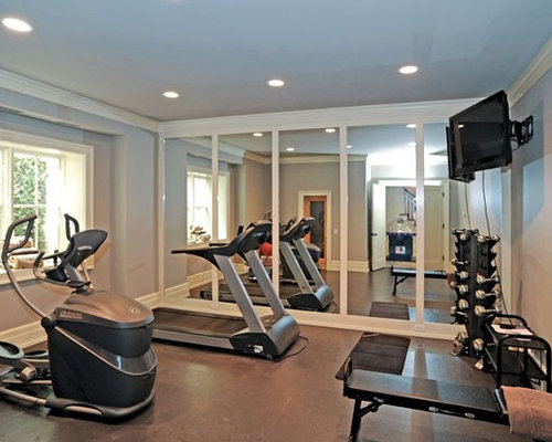 Traditional new york home gym design ideas pictures
