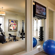 Traditional Home Gym by Godfrey Design Consultants Inc