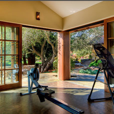 Mediterranean Home Gym by Brian David Peters AIA