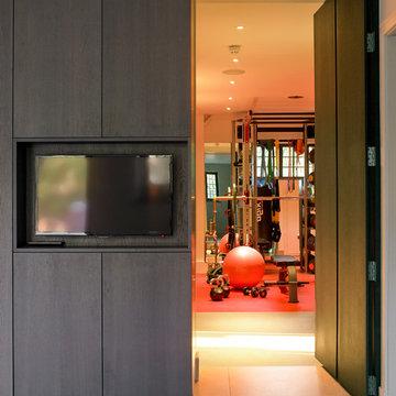 Secret door leading to gym