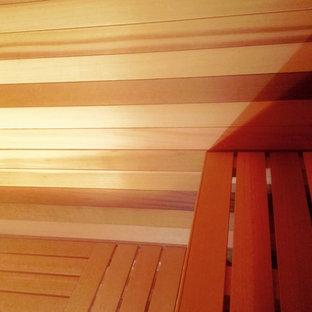 Kleiner Skandinavischer Fitnessraum in Sonstige