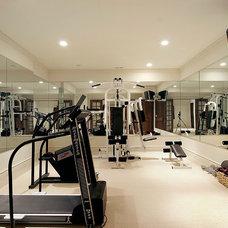 Traditional Home Gym Shingle Style - Stablewood Lane