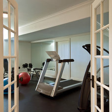 Modern Home Gym by Witt Construction