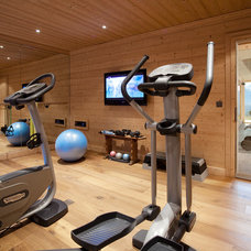 Contemporary Home Gym by MCM Designstudio