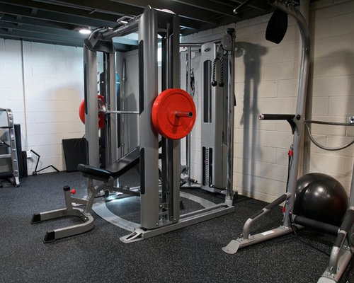 Rustic cleveland home gym design ideas pictures remodel