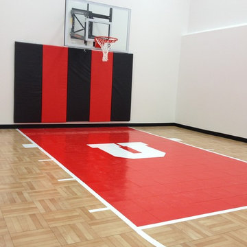 SnapSports® Indoor Home Basketball Court - Residential Gym