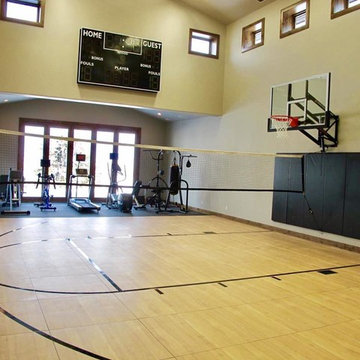 SnapSports® Indoor Home Court Build - Before and After Photo