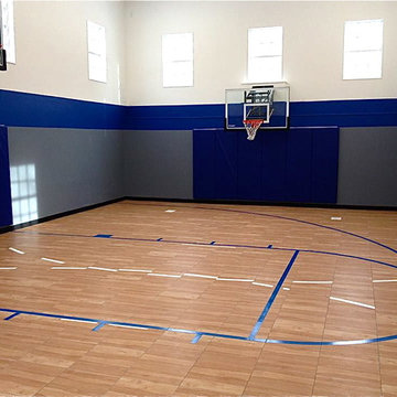 SnapSports Maple XL® Home Indoor Basketball Court Gym