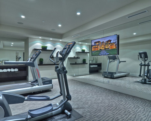 Contemporary home gym design ideas pictures remodel for Summerville gyms