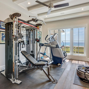 Most popular beach style miami home gym design ideas for