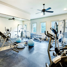 Traditional Home Gym by Larry Stewart Custom Homes