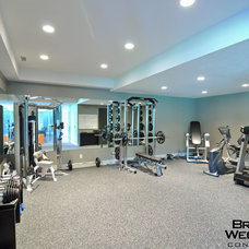 Contemporary Home Gym by Brown Wegher Construction