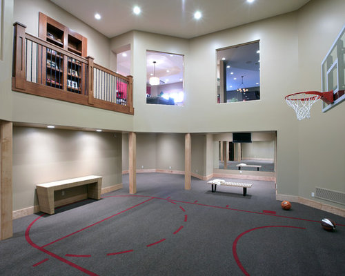 18d163510f0ef915_2341 w500 h400 b0 p0 contemporary home gym indoor basketball court houzz,Home Indoor Basketball Court Plans