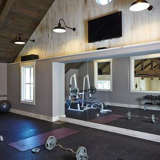 Landhausstil Fitnessraum in Grand Rapids
