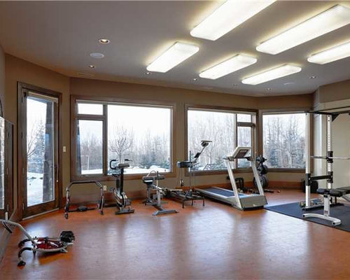 Rustic calgary home gym design ideas pictures remodel