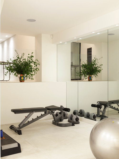 London home gym design ideas renovations photos with