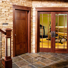 Traditional Home Gym by Stallion Doors and Millwork