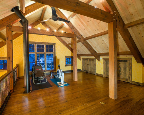 Rustic Burlington Home Gym Design Ideas Pictures Remodel