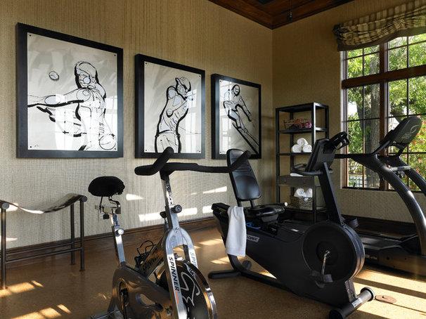Contemporary Home Gym by Victoria Martoccia Custom Construction, Inc