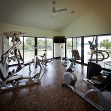 Traditional Home Gym by Collaborative Design Group-Architects & Interiors