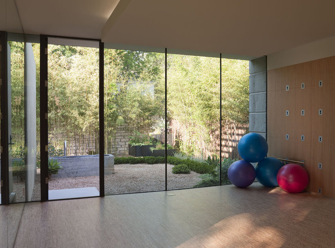 Modern Home Gym by Webber + Studio, Architects