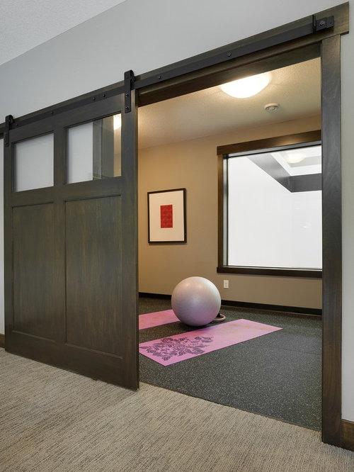best home yoga studio with vinyl floors design ideas remodel pictures houzz - Home Yoga Studio Design Ideas
