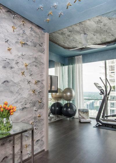 Contemporary Home Gym by DESIGN INTERVENTION