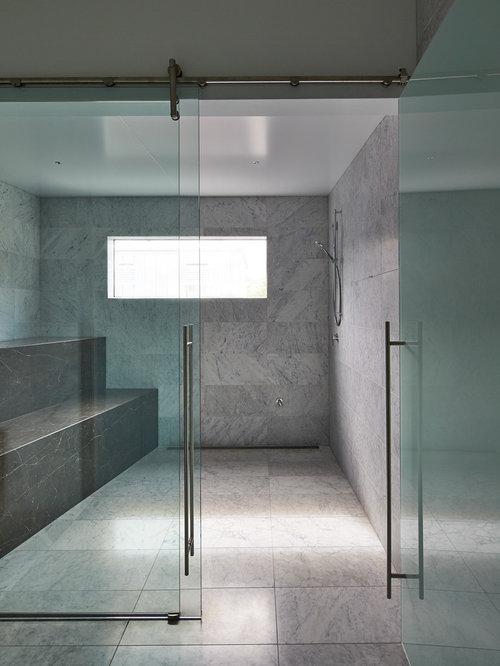 salle de sport avec un sol en marbre photos et id es d co de salles de sport. Black Bedroom Furniture Sets. Home Design Ideas