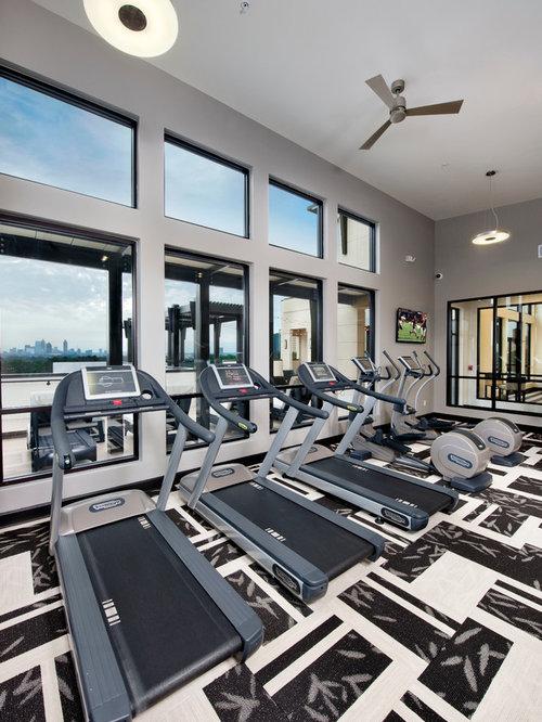 Transitional Atlanta Home Gym Design Ideas Pictures