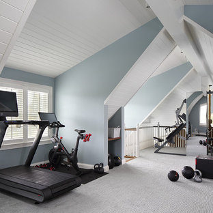 Most popular white home gym design ideas for stylish