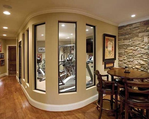 2682 traditional home gym design photos - Home Gym Design Ideas