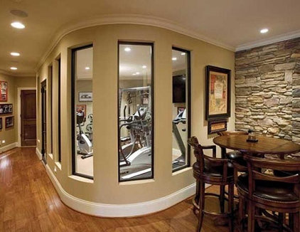 Traditional Home Gym by Toebben Builders